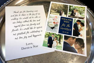 Photo Collage Two Sided Thank You Card