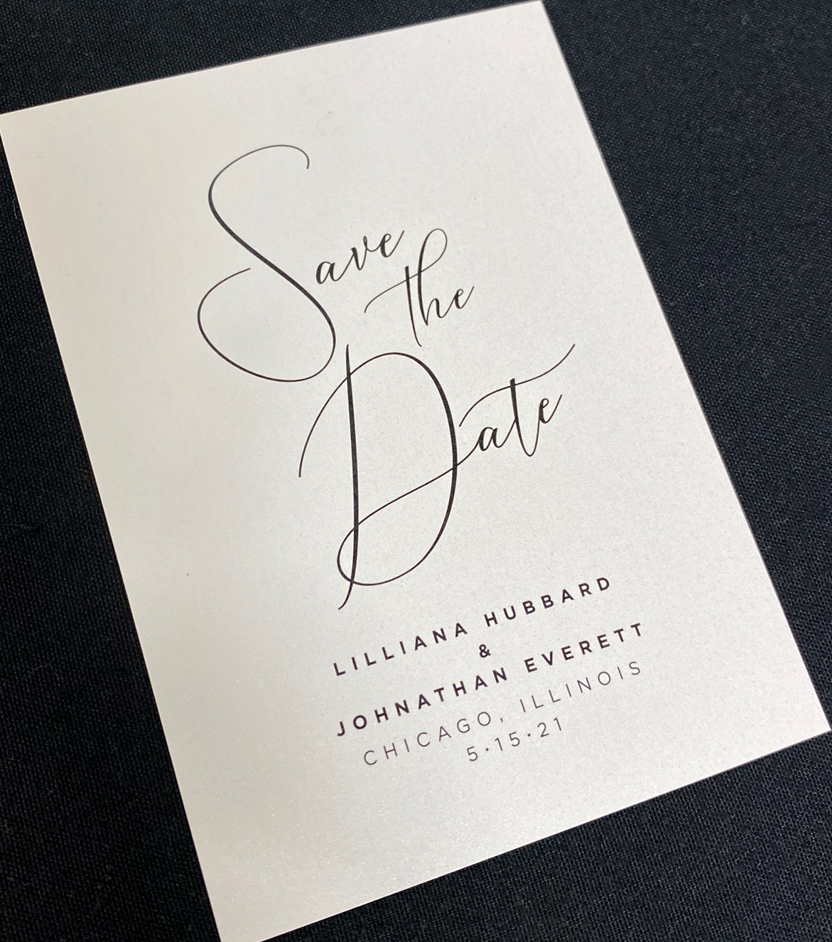 Modern Font Save the Date