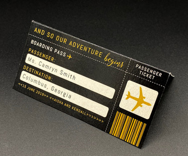 Boarding Pass Place Card