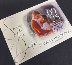 Horizontal Faded Photo Save the Date
