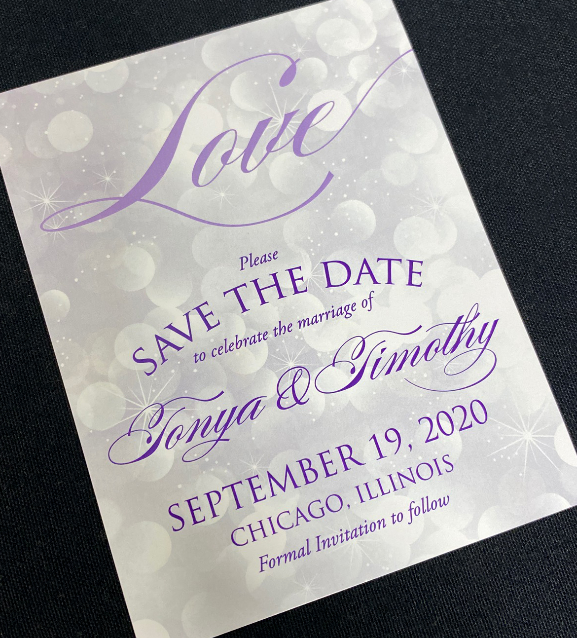 Purple Love Save the Date