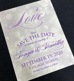 Purple Love Save the Date