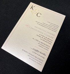 Monogram Left Corner Invitation