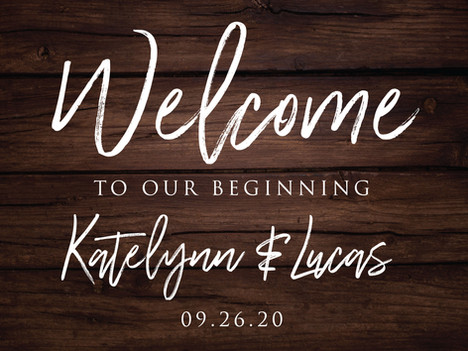Wood Background Welcome Sign