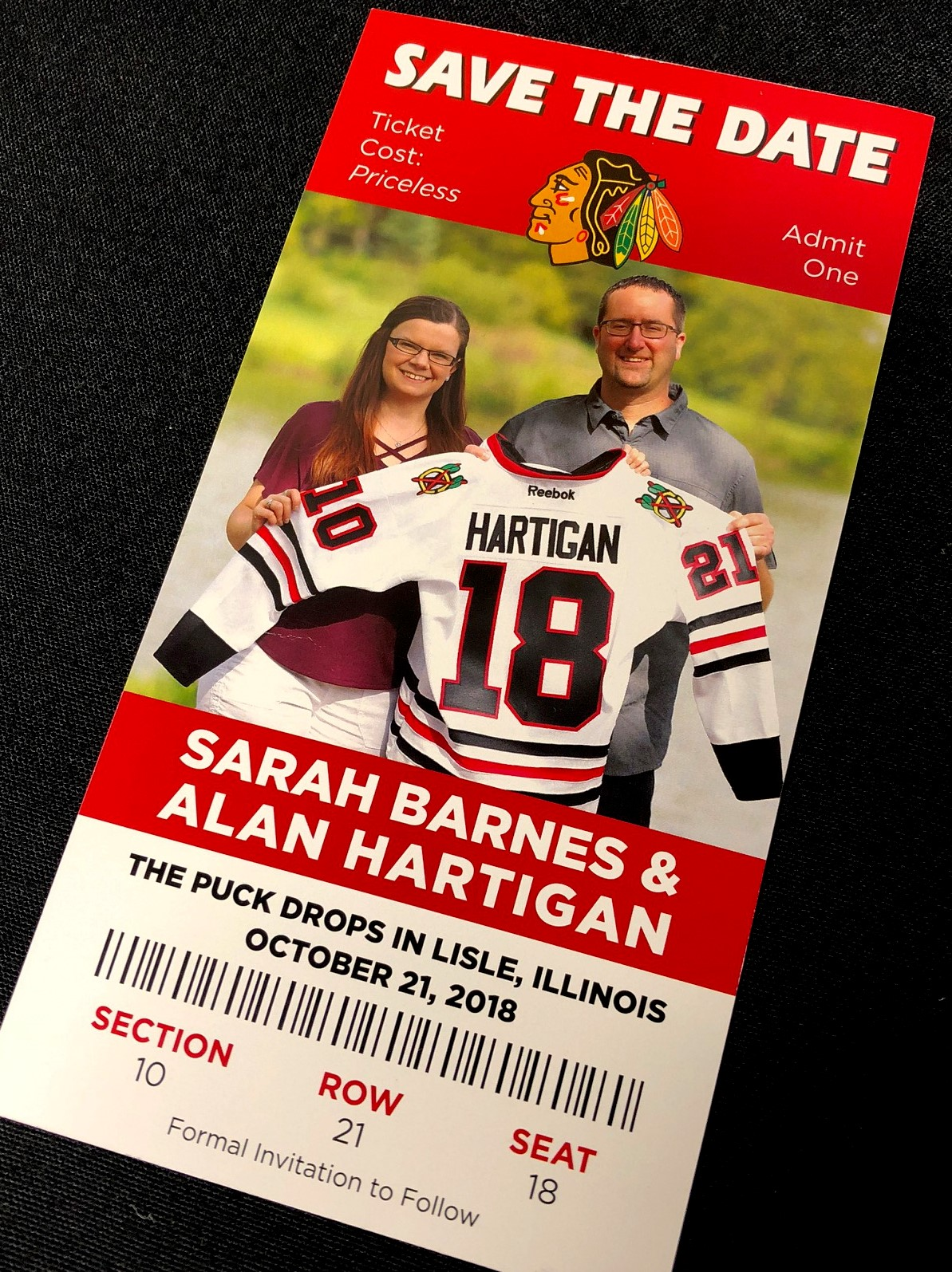 Blackhawks Ticket Save the Date