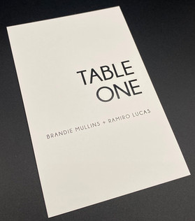 Ultra Modern Table Number