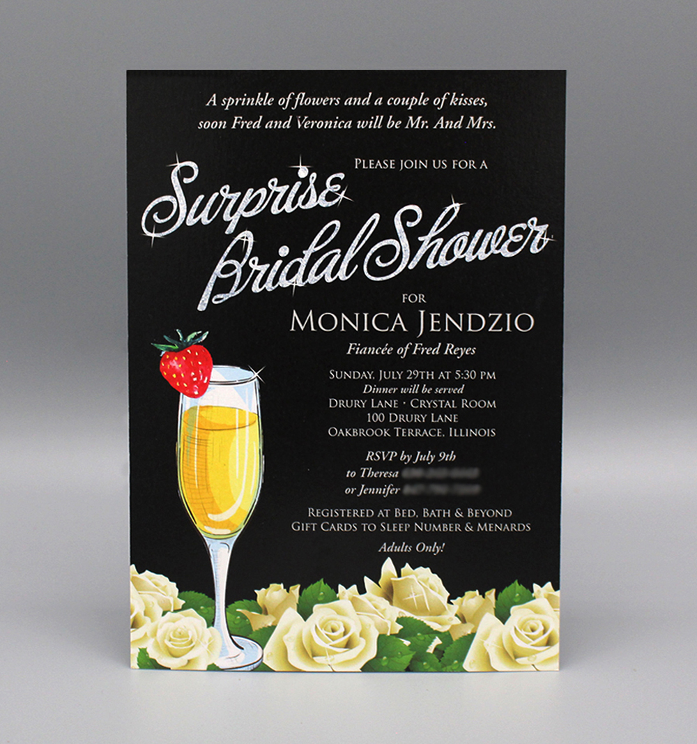 Mimosa & White Roses Bridal Shower