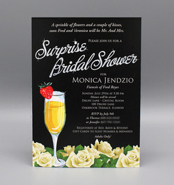 Mimosa & White Roses Bridal Shower