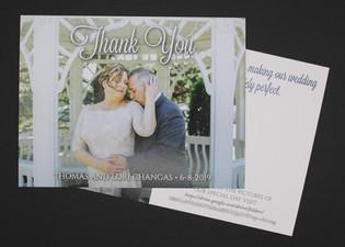Single Photo Two Sided Thank You Card Horizontal