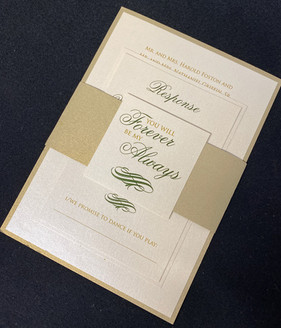 Forever Always Belly Band Invitation