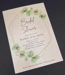 Gold Frame Botanical Bridal Shower