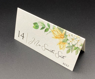 Modern Floral Place Card