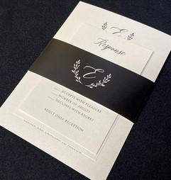 Black & White Fall Invitation