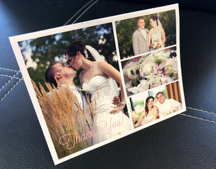 Folded Photo Collage Thank You Card