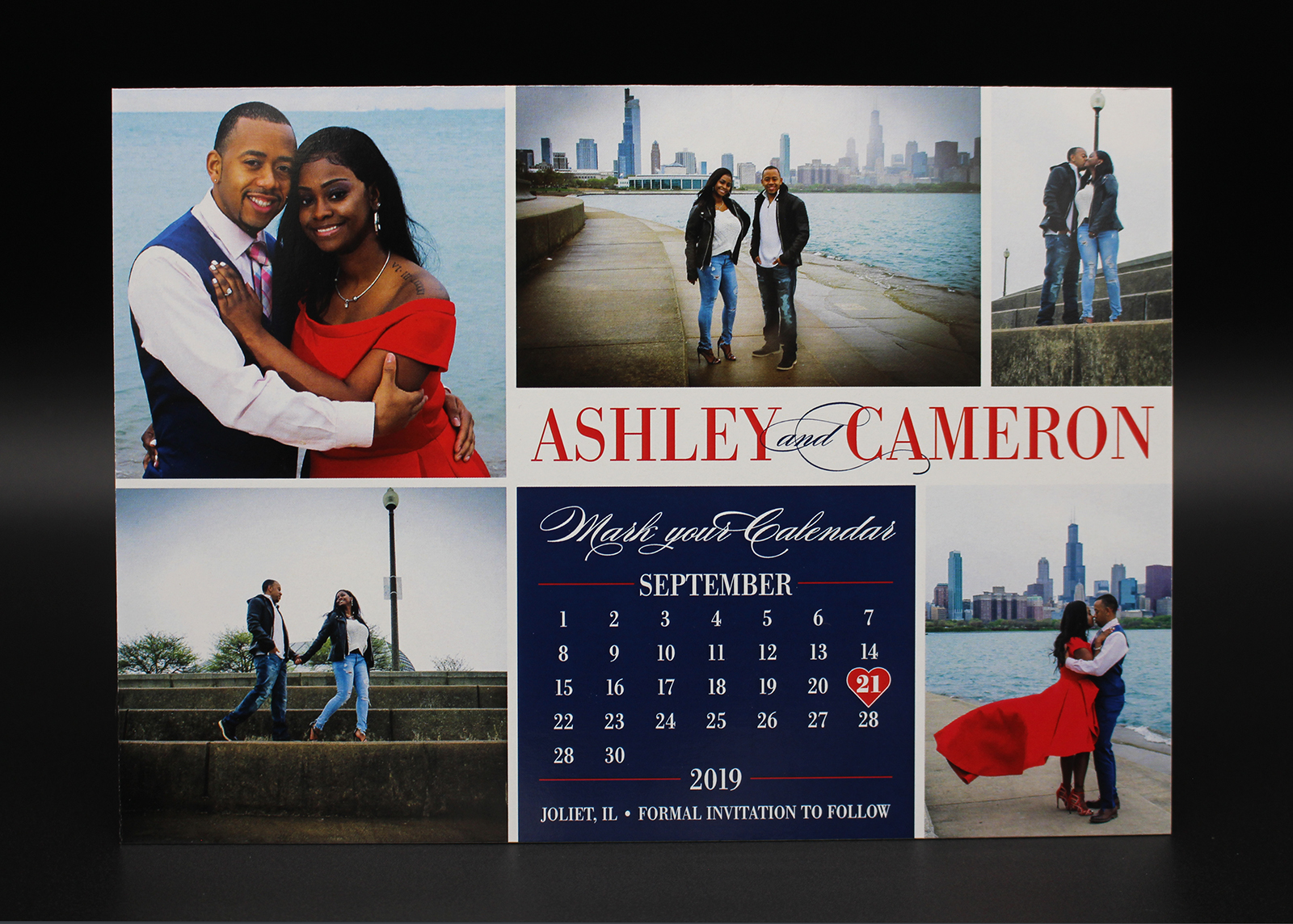 Photo Collage Calendar Save the Date