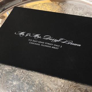 Black Wedding Envelope
