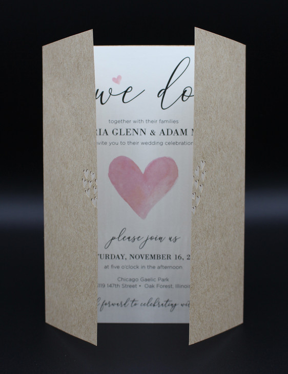 Heart Cut Out Wrap Invitation
