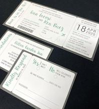 Simple Travel Ticket Invitation