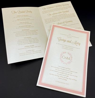 Greek Wedding Program 1