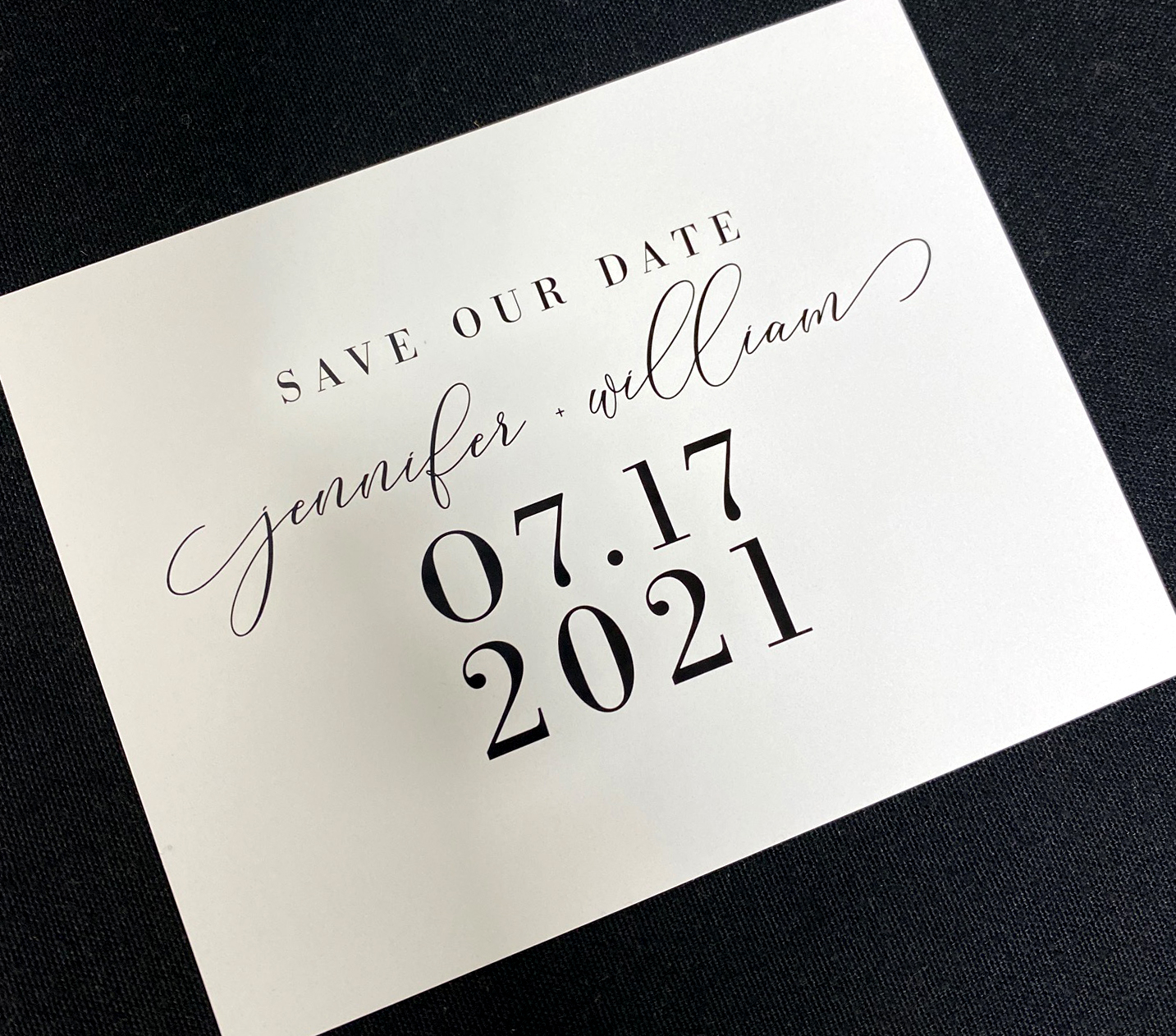 Modern Date Black & White Save the Date