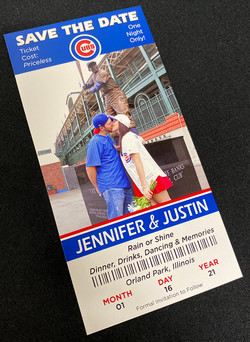 Cubs Ticket Save the Date