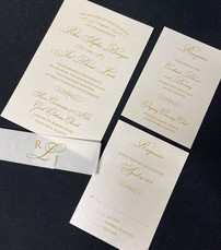 Gold Simple Belly Band Invitation