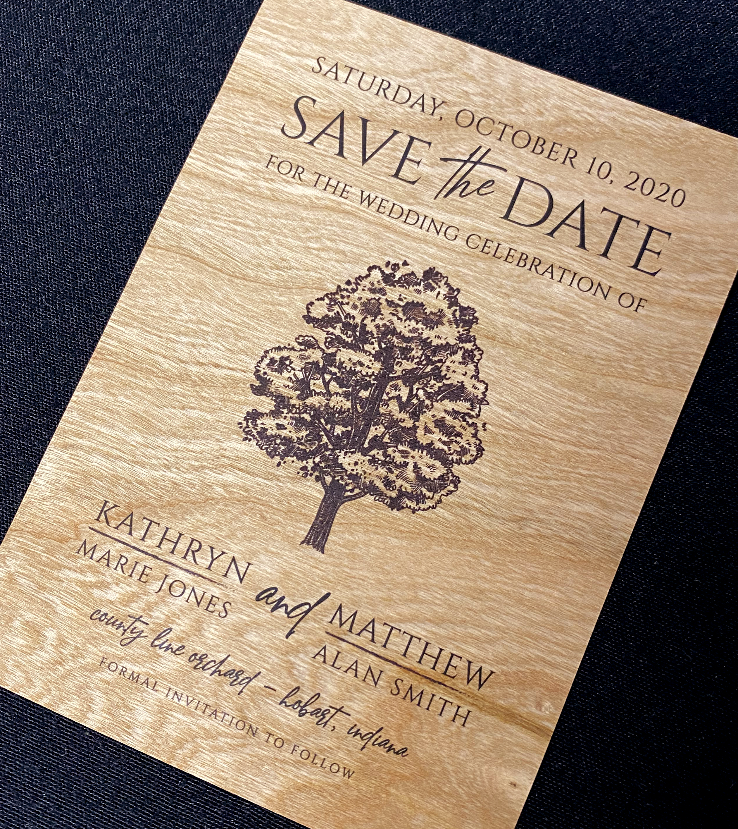 Wood Save The Date