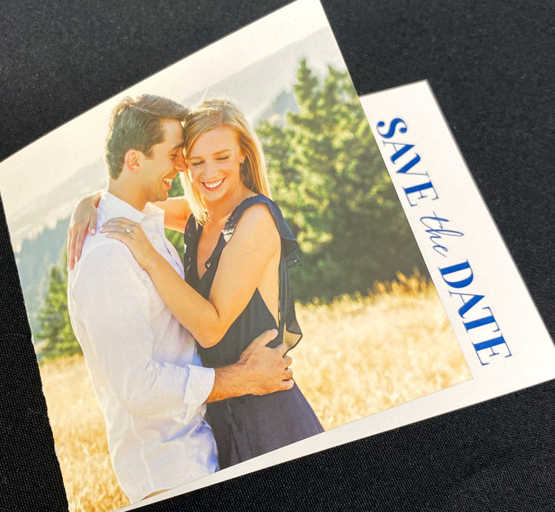Folded Save the Date