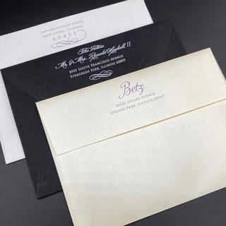 Wedding Envelope Return Address Flaps