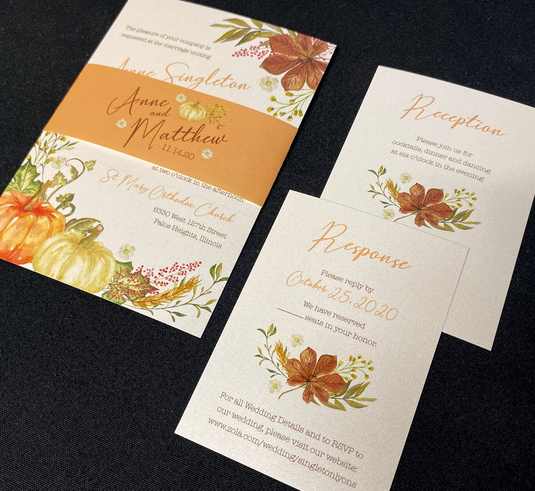 Fall Galore Belly Band Invitation