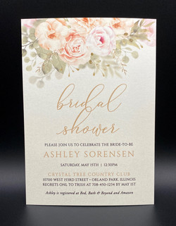 Gold Pink Floral Bridal Shower