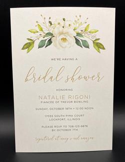 White Floral Bouquet Bridal Shower