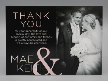 Thank You Card with Large Names