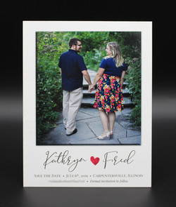 Single Photo with Heart Save the Date