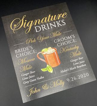 Chalkboard Standard Signature Drink Sign