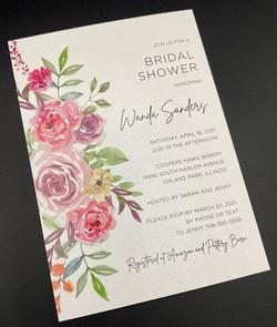 Bridal Shower Vertical Flowers