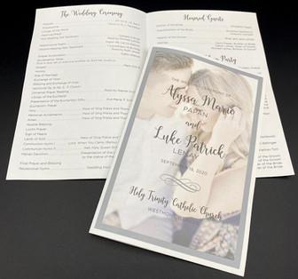 Faded Photo Folded Wedding Program
