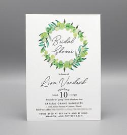 Greenery Wreath Bridal Shower