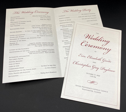 Basic Color Folded Wedding Program