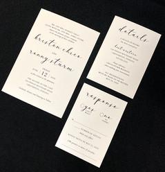 Super Modern Font Invitation