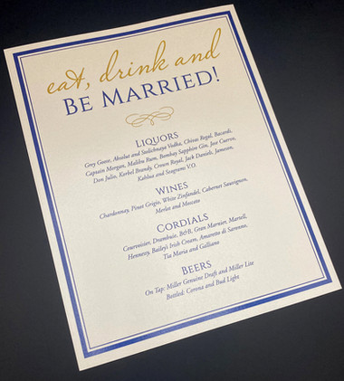 Eat Drink Be Married Drink Sign