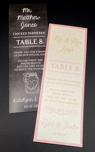 Photobooth Place Cards