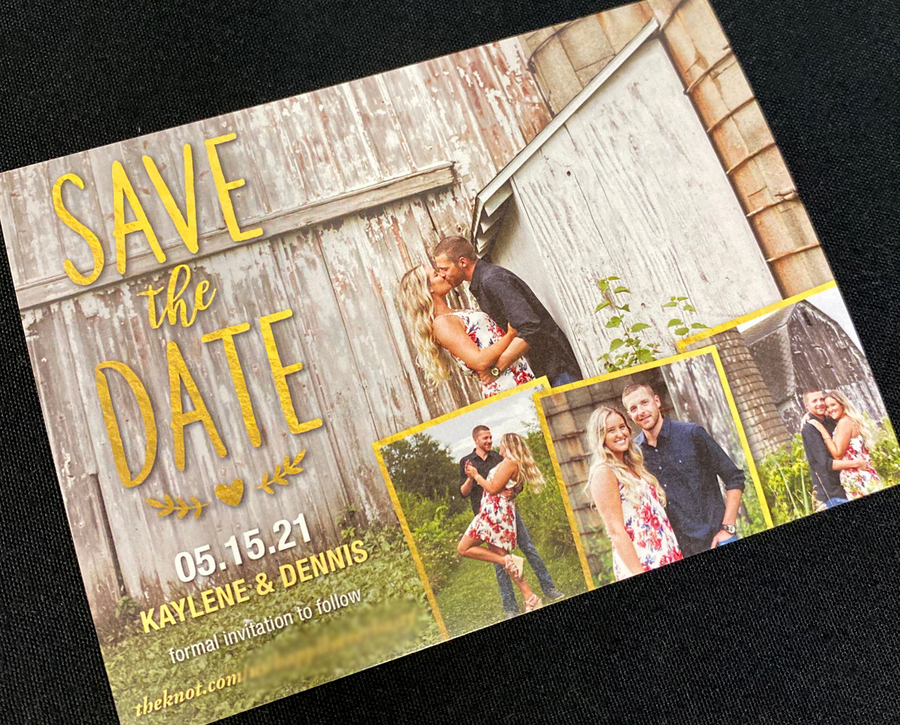 Golden Type Save the Date