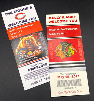 Sports Tickets Place Cards