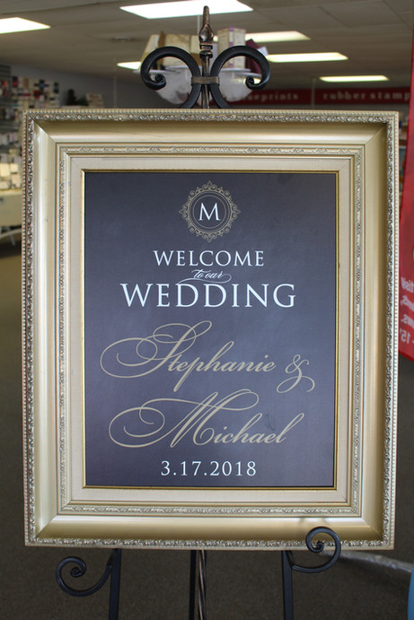 Welcome Sign in Gold Frame