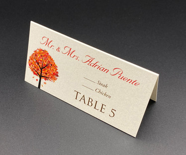 Tree Meal Choice Place Card