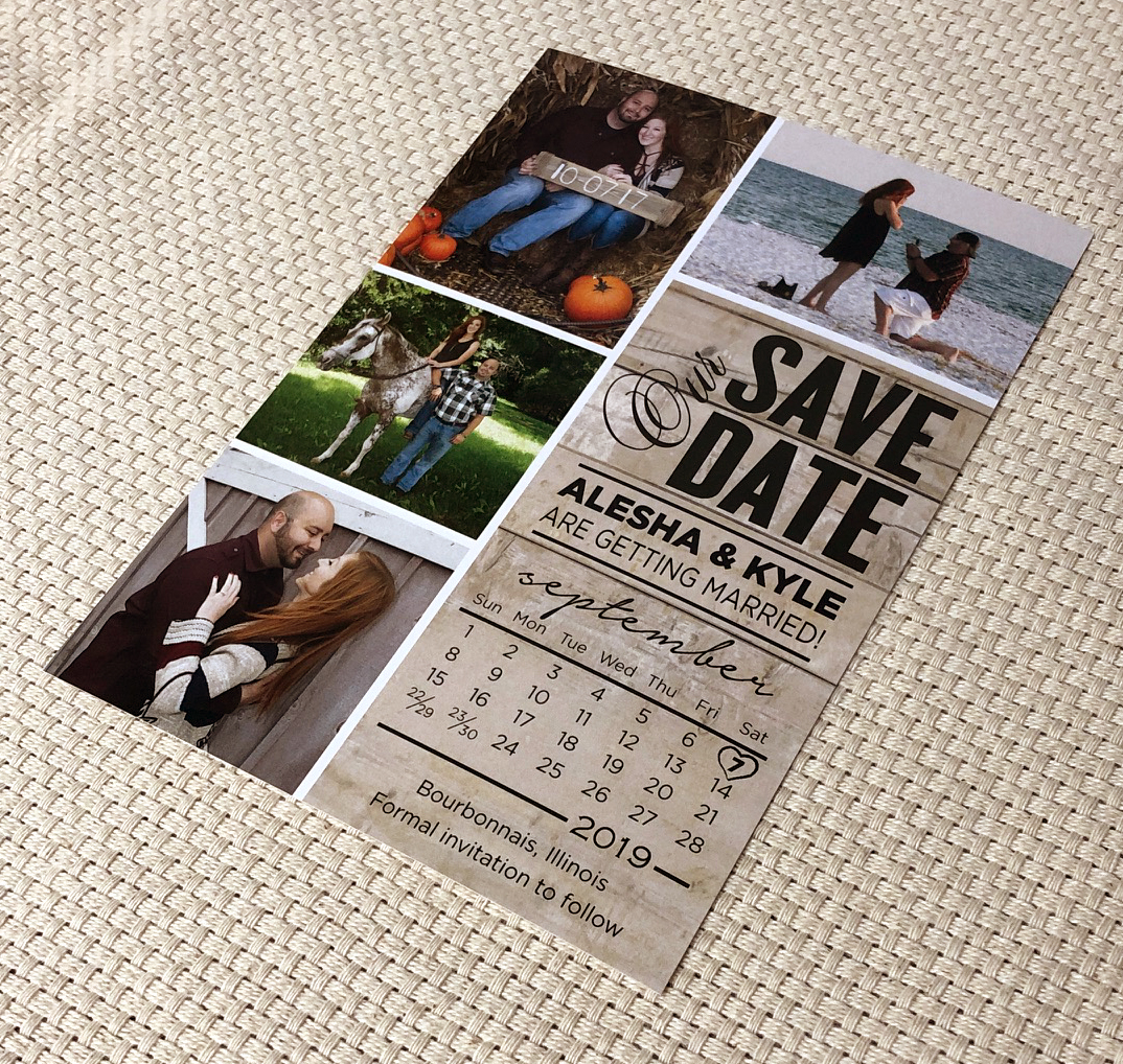 Wood Calendar Save the Date