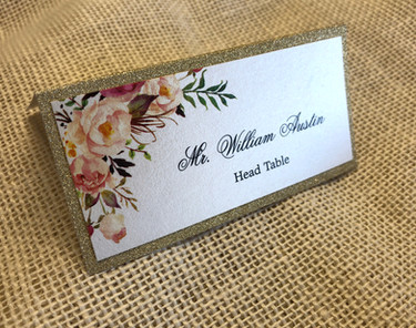 Gold Glitter Place Card
