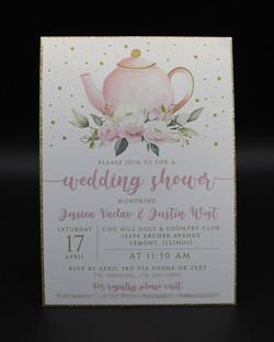 teapot shower invitation