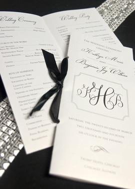 Ribbon Folded Wedding Program